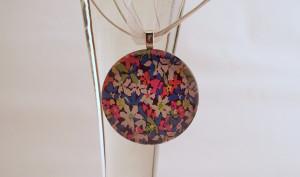 Neon Flowers Glass Pendant!
